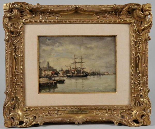 428: Painting attr. to Eugene Boudin (1824-1898, French - 2