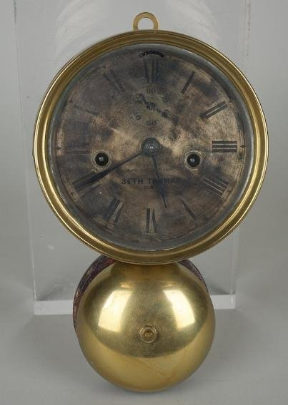 571: Seth Thomas brass ship's bell clock dated 1879
