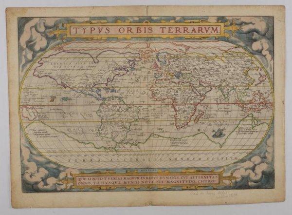 """572: Map: Ortelius """"Typus Orbis Terrarum"""""""