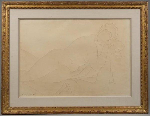 993: Drawing by Karel Soucek (1915-1982, Czech)