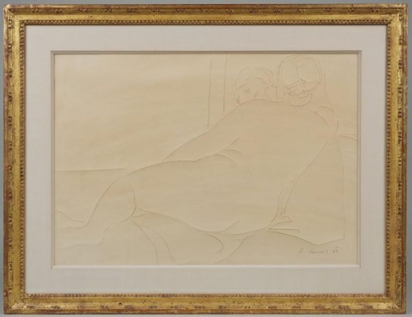 994: Drawing by Karel Soucek (1915-1982, Czech)