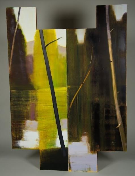 1003: (2) paintings by Stephen Pentak (b. 1951, America