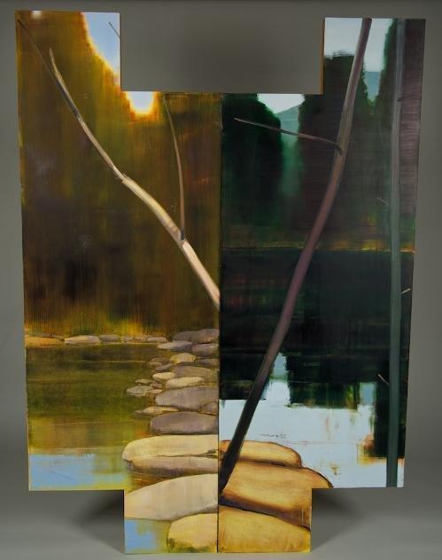 1004: (2) paintings by Stephen Pentak (b. 1951, America