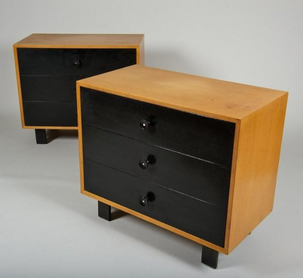 1177: Pair George Nelson for Herman Miller chests of dr