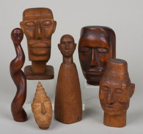 1178: (6) sculptures by Nimo Mocharniuk (b. 1917, Russi