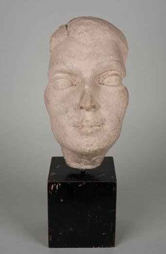 1183: Plaster face study by William Zorach (1887-1966,