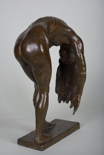 1188: Female nude bronze by Zenos Frudakis (b. 1951)