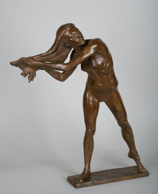 1189: Female nude bronze by Zenos Frudakis (b. 1951)