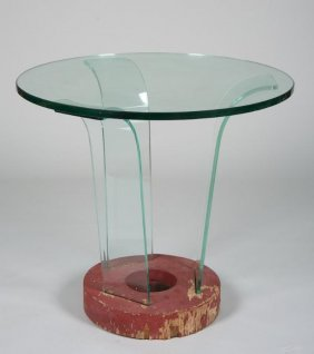 Nice Art Deco Side Table Manner Of Donald Deskey