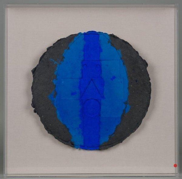 1214: Fiber art construction by Robert Courtright (b. 1