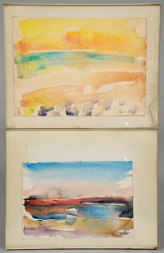 1225: (2) watercolors by Mary Abbott (b. 1921, American
