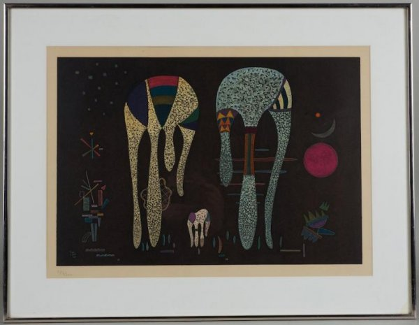 1248: Lithograph after Wassily Kandinsky (1866-1944, Ru