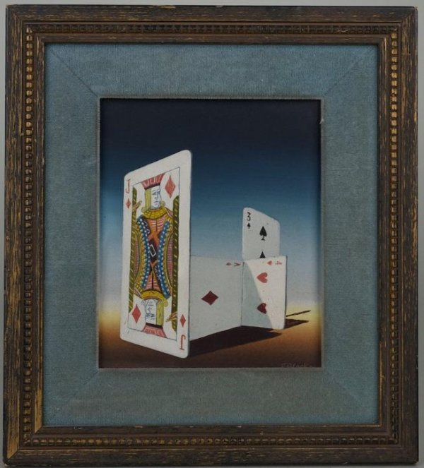 1252: Trompe L'oeil oil painting by N. Black