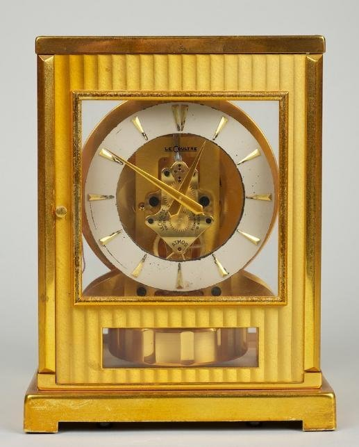 1258: LeCoultre gilt metal Atmos clock