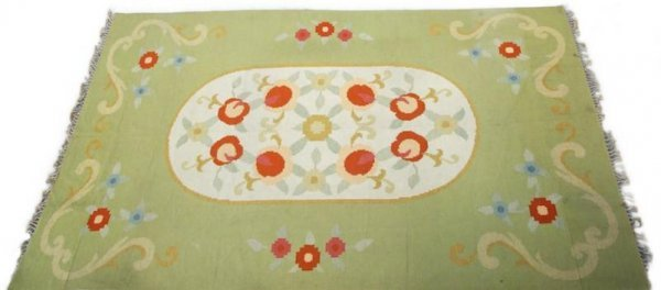 "1262: Modern appeal carpet signed ""RC"" approx. 11' x 18"