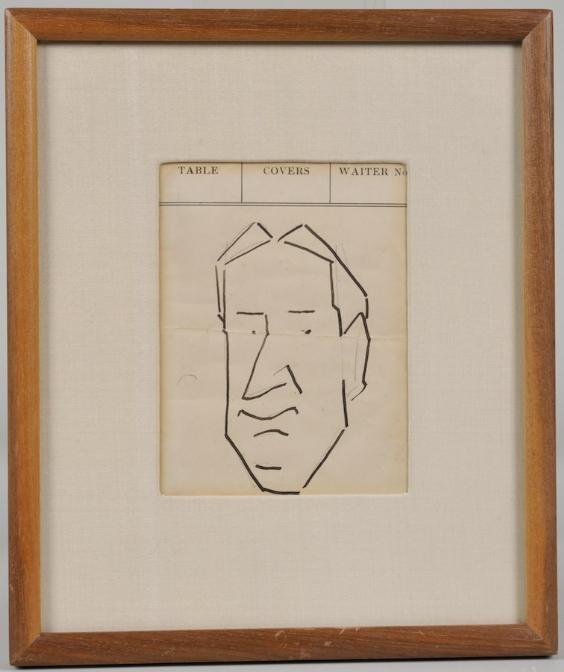 1268: Caricature sketch by Enrico Caruso (1873-1921, It
