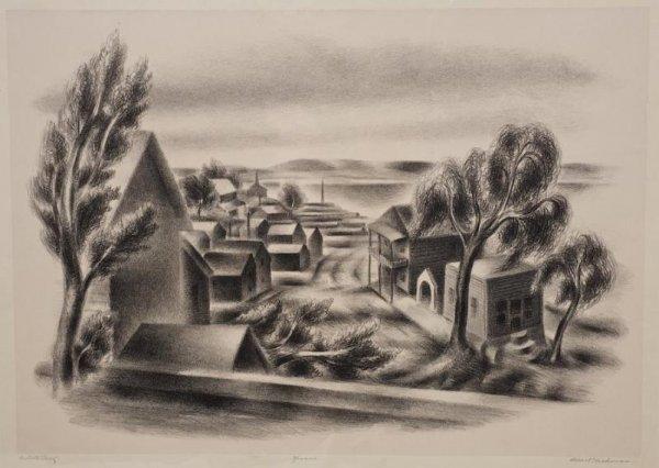 1275: Litho by Albert Heckman (1839-1971, American)