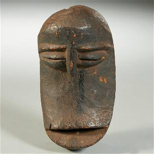 Hemba Peoples, carved monkey mask, ex-museum