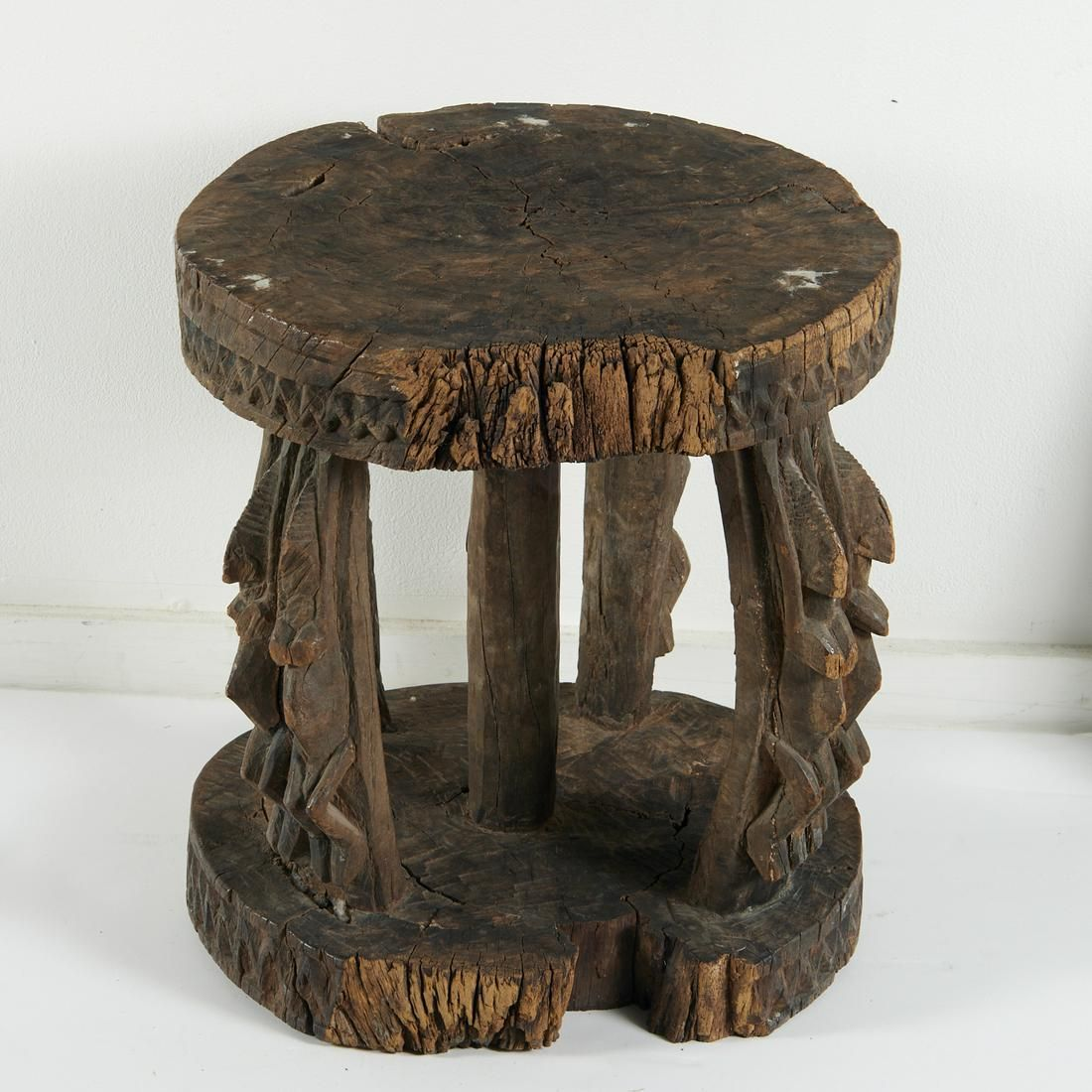 Dogon carved wood ritual stool, ex-Parke-Bernet
