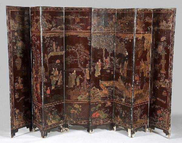 2008: Antique Chinese coromandel lacquer screen