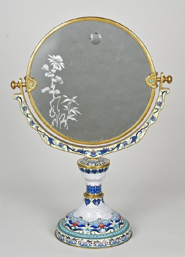 2019: Chinese cloisonne and gilt copper dressing mirror