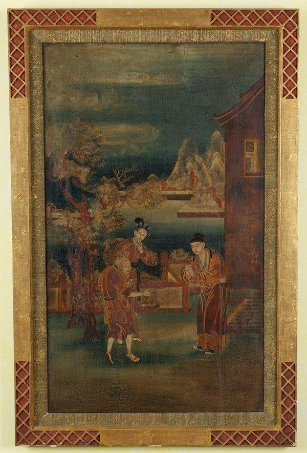 2024: Antique Chinese polychrome decorated panel