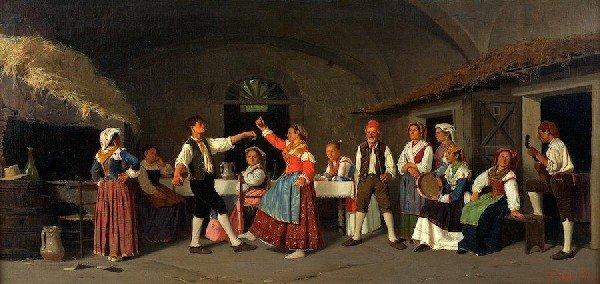 3010: Giovanni Della Rocca (1788-1858, Italian), painti