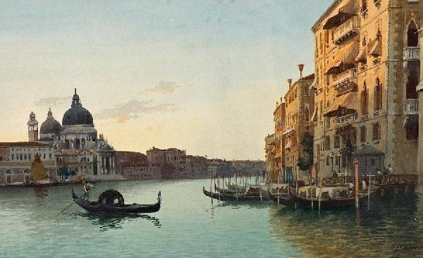 3015: Eugenio Benvenuti (1881-1959, Italian), watercolo