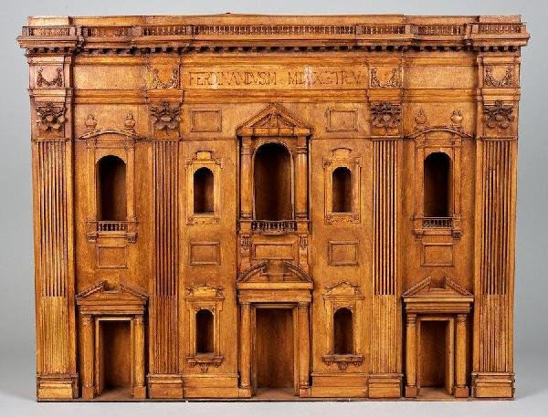 3023: Palladian style wood architectural facade model