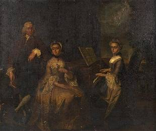 3070: Continental School (18th c.), oil painting
