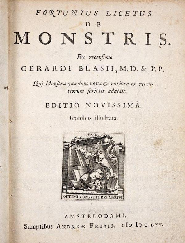 1015: Licetus, Fortunius, De Monstris