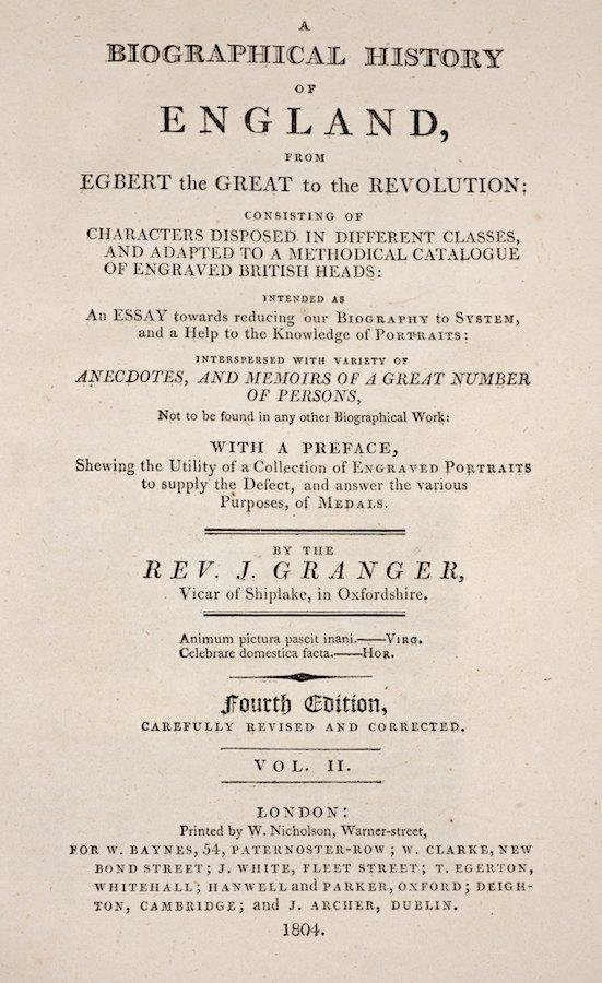 1045: Granger and Noble, A biographical history of Engl - 2