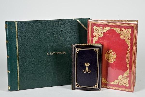 1170: 3 fine bindings incl. royal crests