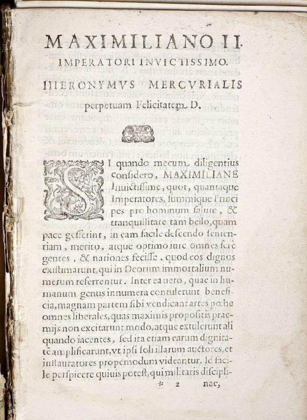 1192: Mercurialis, Arte Gymnastica, incomplete