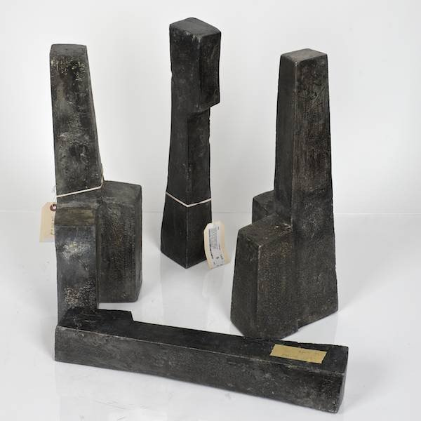 "5: Post War 4-part metal sculpture signed ""RB"""