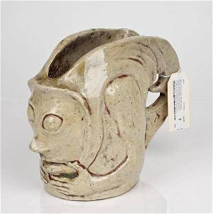 7: Face vessel attributed to Chaplet or Gauguin