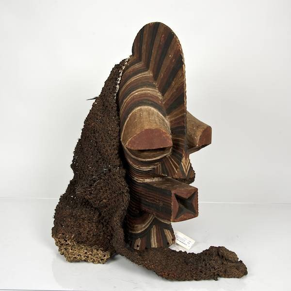 11: Songye carved and stained wood dance mask