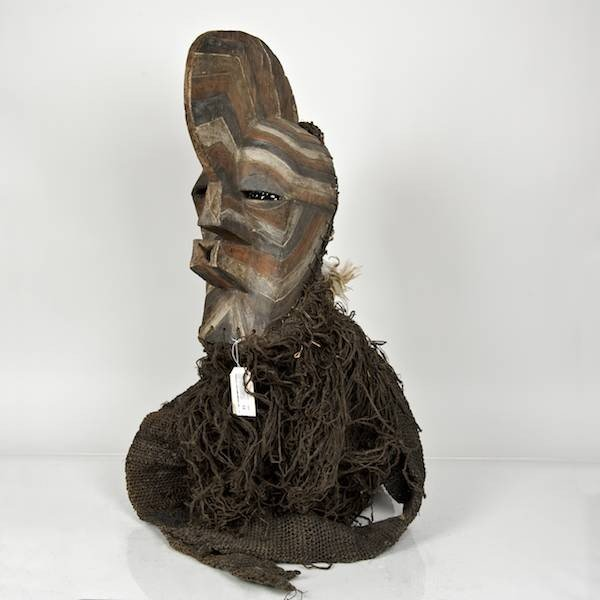 12: Songye carved and stained wood dance mask