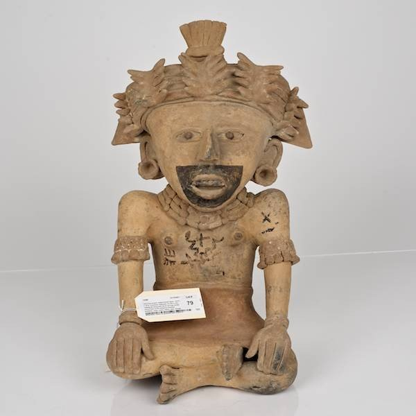 79: Vera Cruz ceramic seated female figure