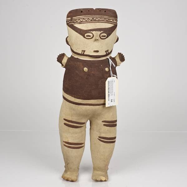 "84: Large Chancay ceramic female ""doll"" figure"