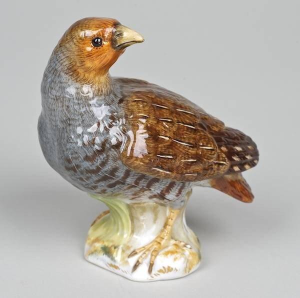 1017: Meissen porcelain model of a Partridge