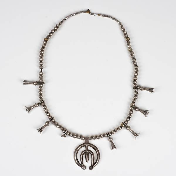2002: Antique Navajo silver squash blossom necklace