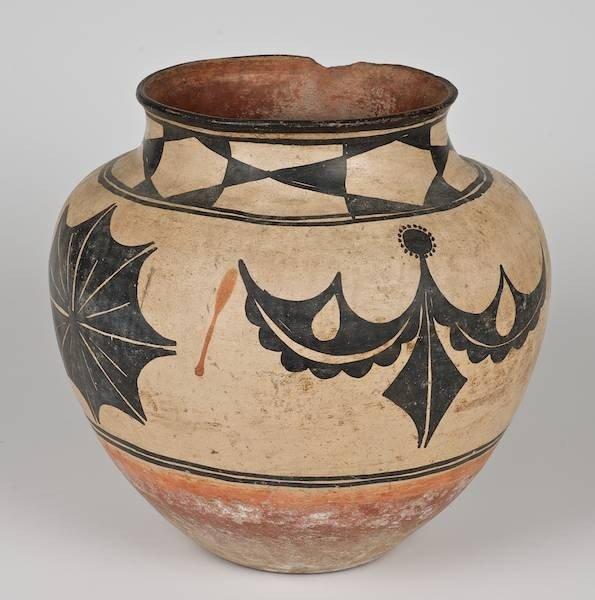 2003: Antique Southwest polychrome pottery Olla