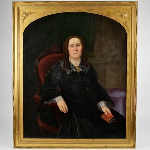 2009: American School (19th century), oil painting