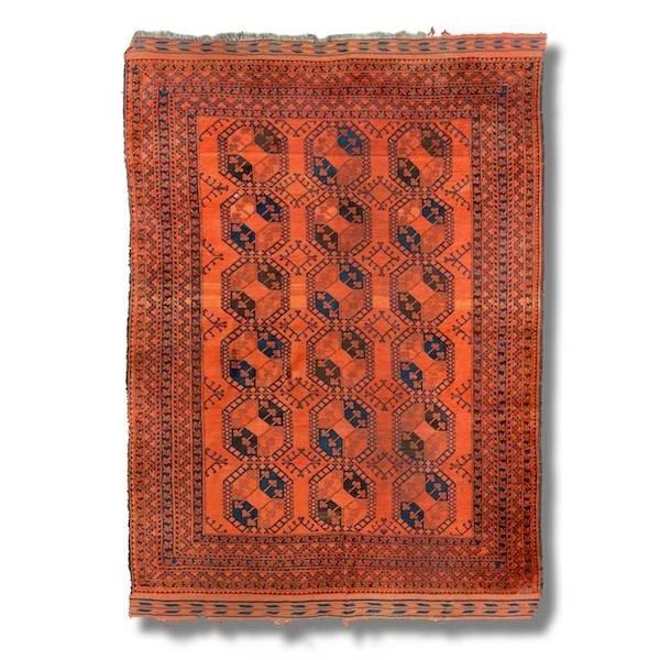 "2078: Tribal carpet, approx. 7'6"" x 10'7"""