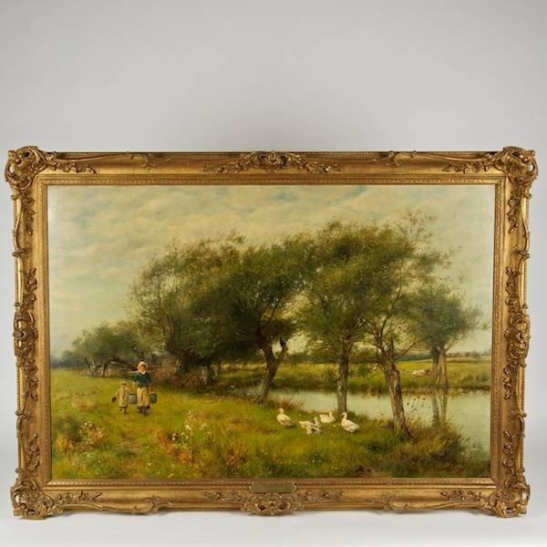 2080: David Bates (1840-1921, British), painting
