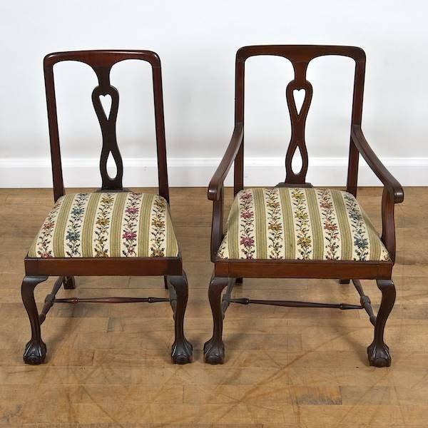 2095: (2) matching Edwardian mahogany inlaid child's ch