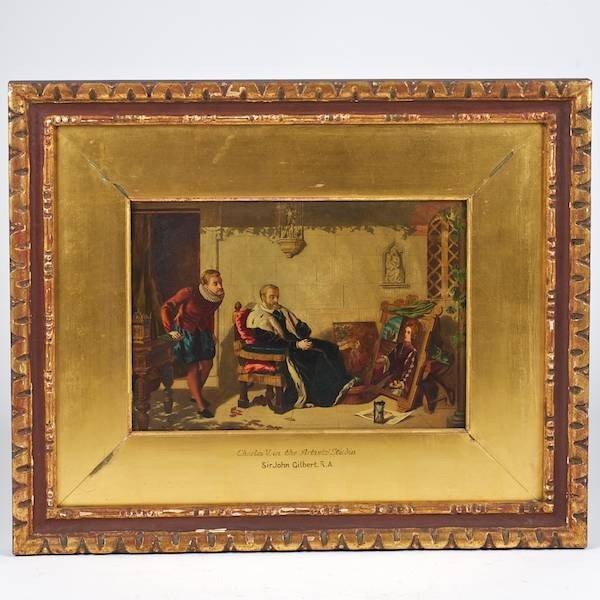 2096: Sir John Gilbert (1817-1897, British), painting