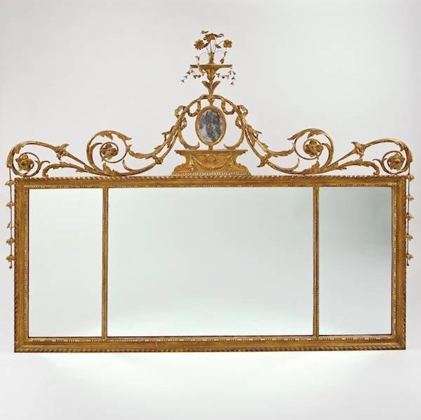 2145: George III giltwood overmantel mirror