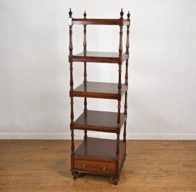 Victorian Style Rosewood And Painted 5-tier Etage